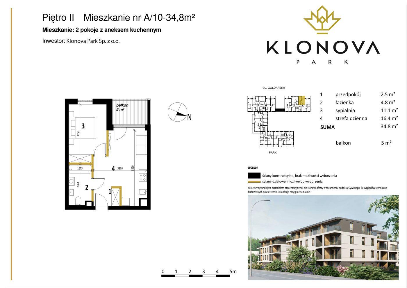 Apartamenty Klonova Park - Plan mieszkania A/10