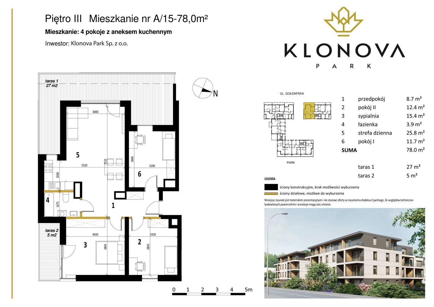 Apartamenty Klonova Park - Plan mieszkania A/15