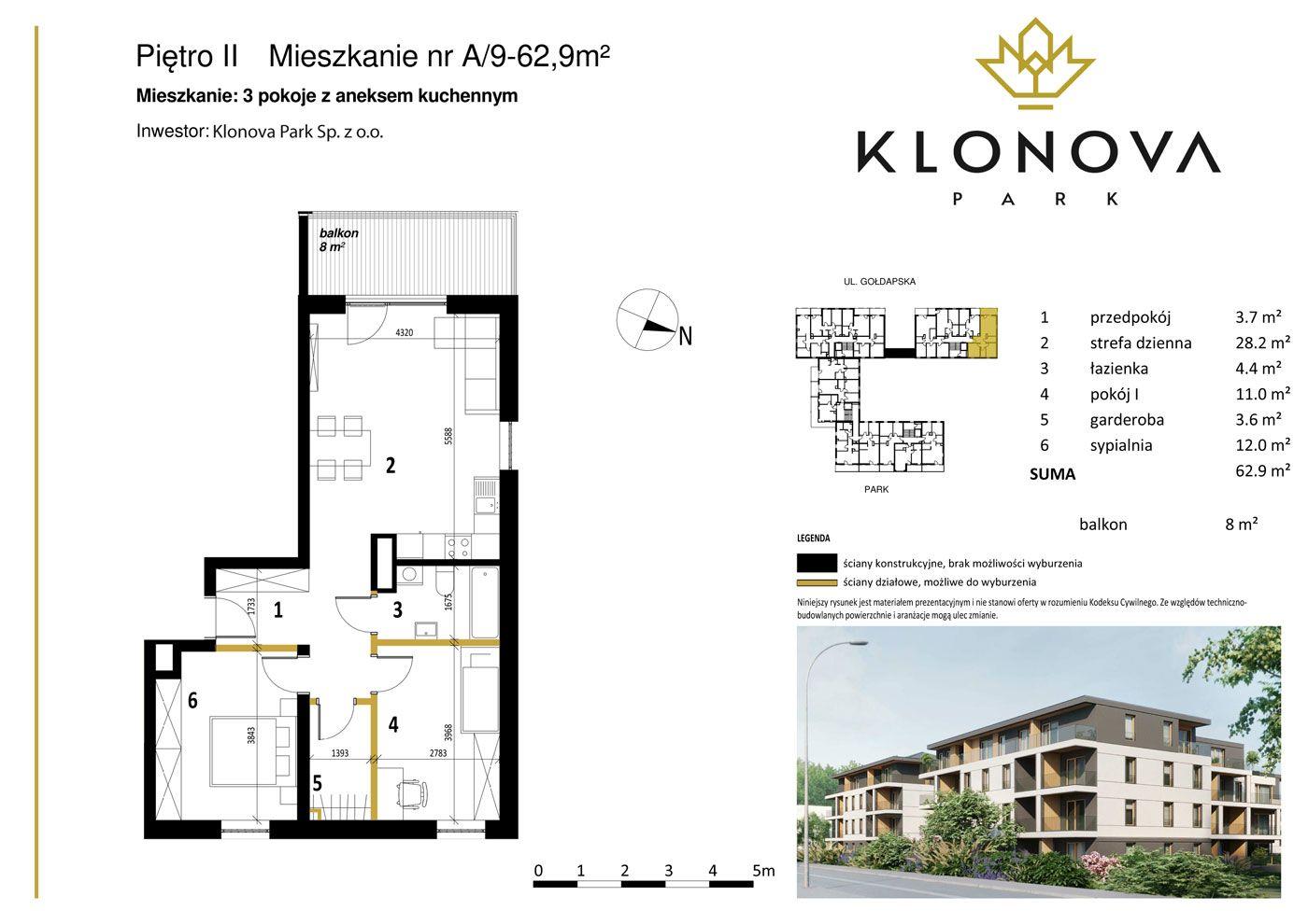 Apartamenty Klonova Park - Plan mieszkania A/9