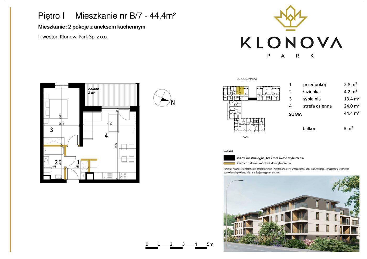 Apartamenty Klonova Park - Plan mieszkania B/7