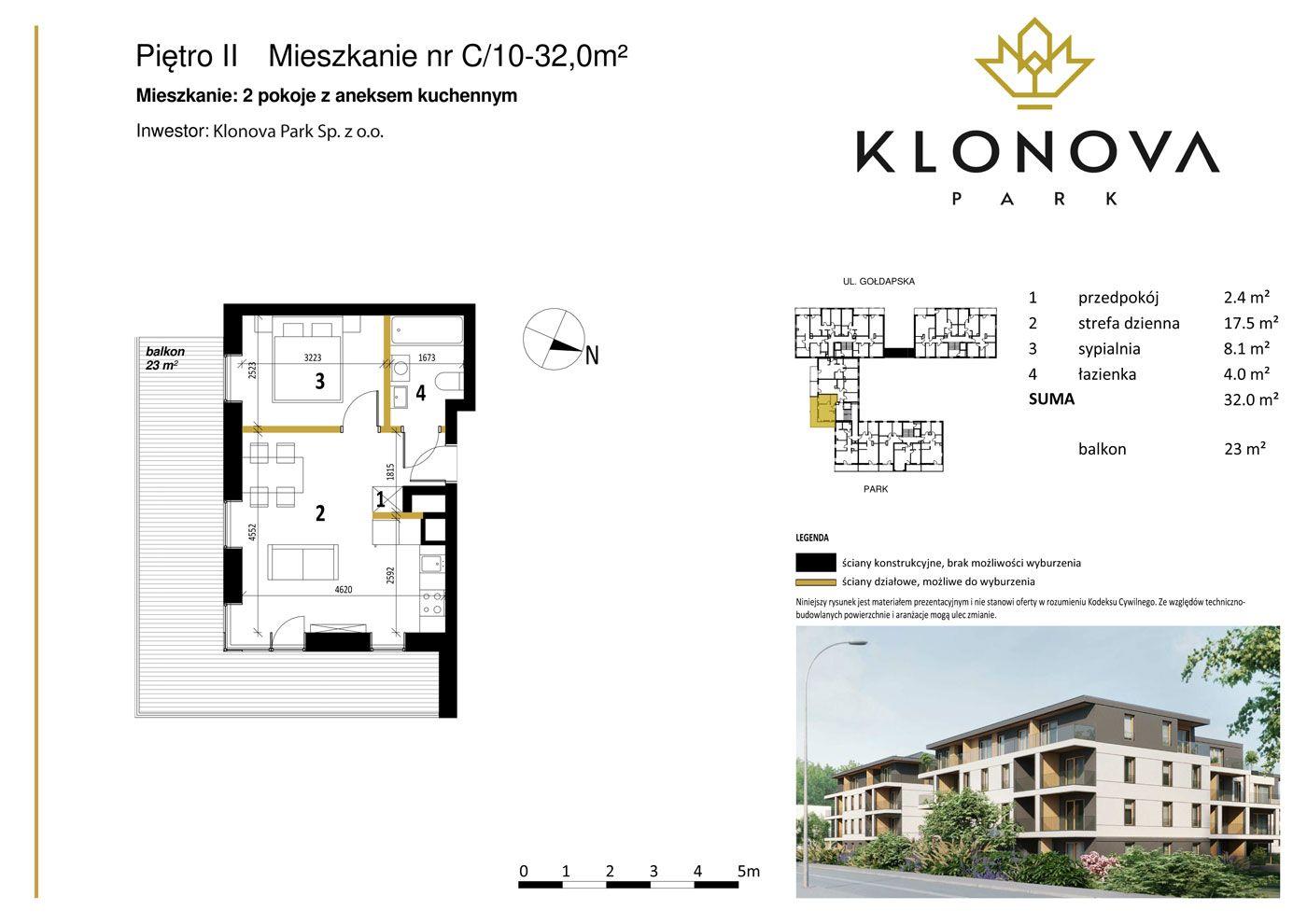 Apartamenty Klonova Park - Plan mieszkania C/10