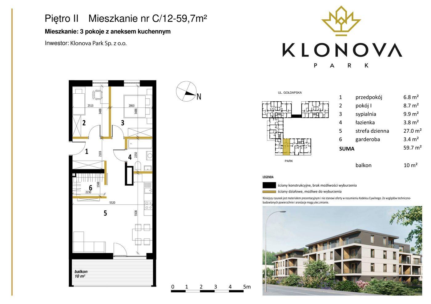 Apartamenty Klonova Park - Plan mieszkania C/12