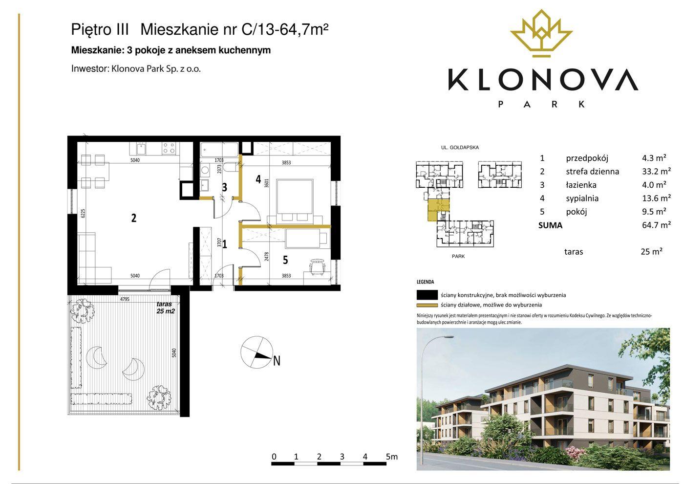 Apartamenty Klonova Park - Plan mieszkania C/13