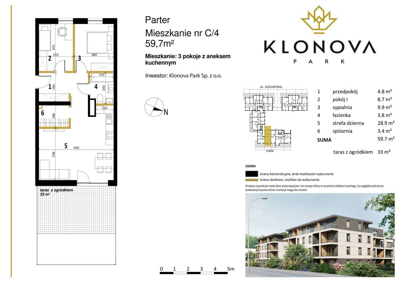 Apartamenty Klonova Park - Plan mieszkania C/4