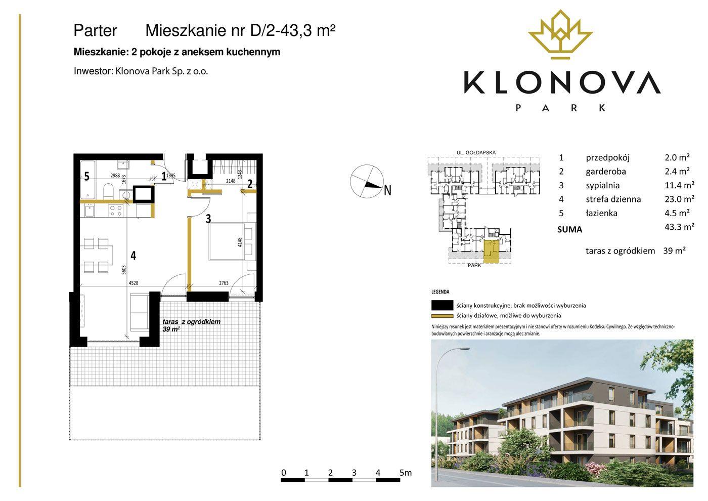 Apartamenty Klonova Park - Plan mieszkania D/2