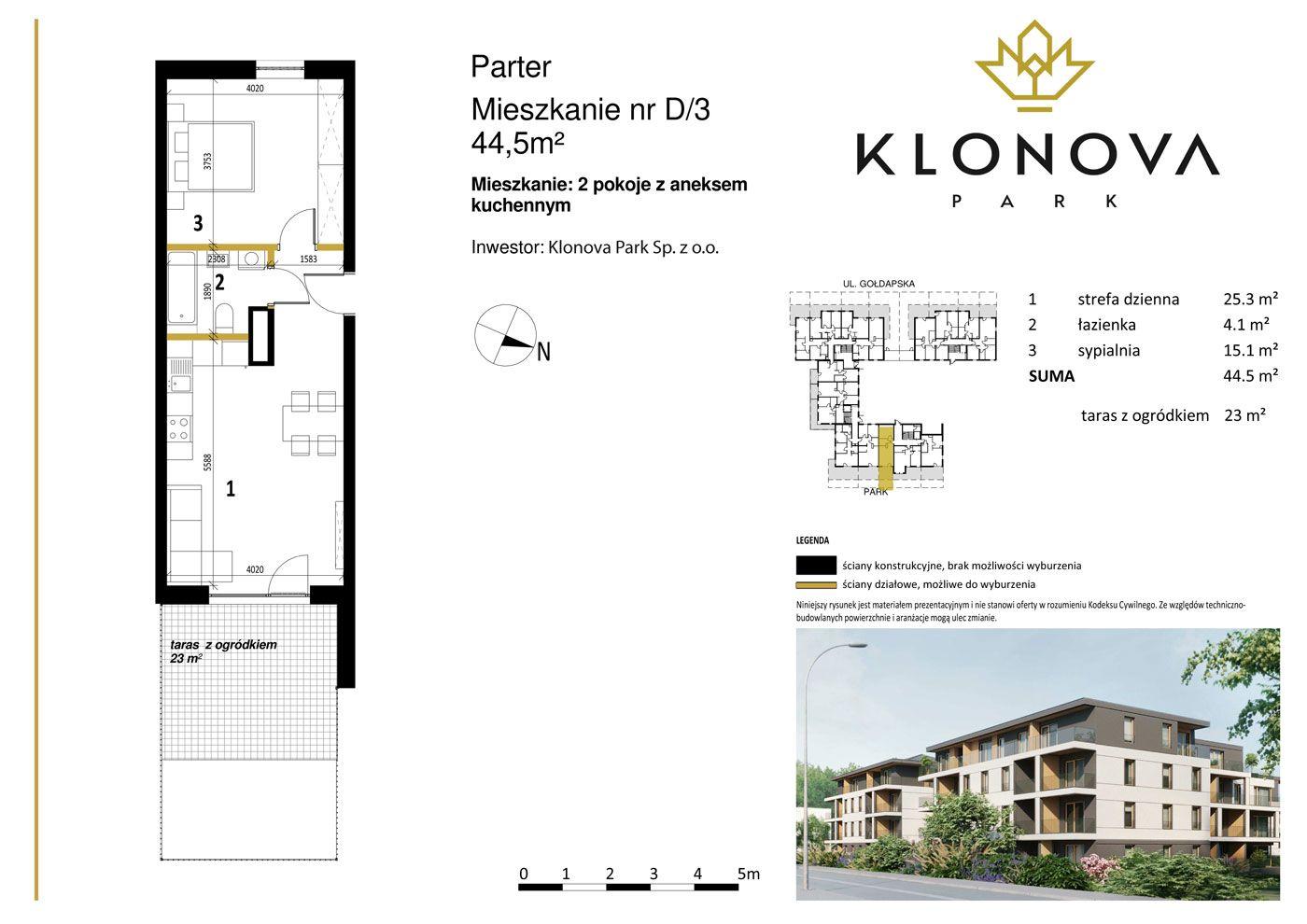 Apartamenty Klonova Park - Plan mieszkania D/3