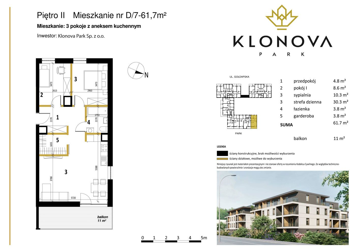 Apartamenty Klonova Park - Plan mieszkania D/7