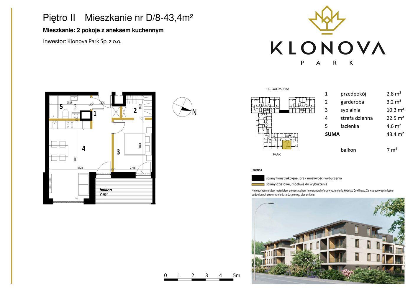 Apartamenty Klonova Park - Plan mieszkania D/8